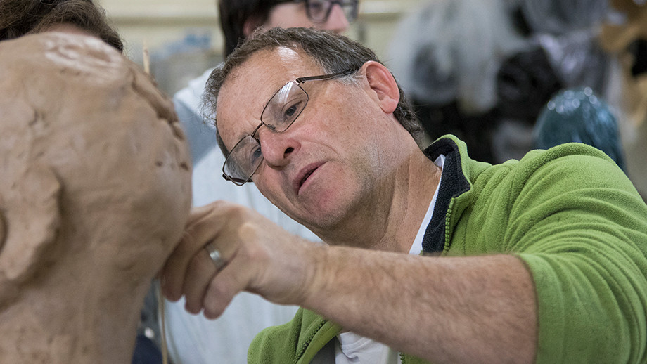 Demonstrating technique with clay (Photo: Adam Spence)