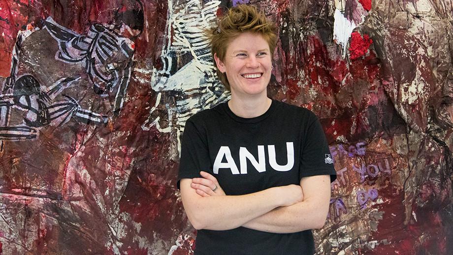 Emma Beer, School of Art & Design graduate (first class Honours in Painting)