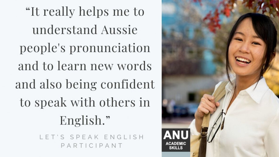 """Student quote: """"It really helps me to understand Aussie people's pronunciation and to learn new words and also being confident to speak with others in English."""""""