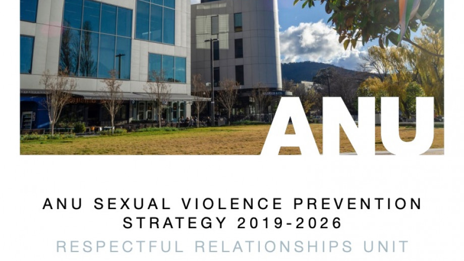 ANU Sexual Violence Prevention Strategy 2019-2026 Front Cover