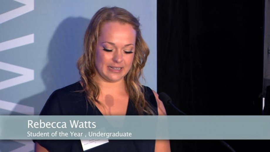 Student of the Year (Undergraduate) - Rebecca Watts