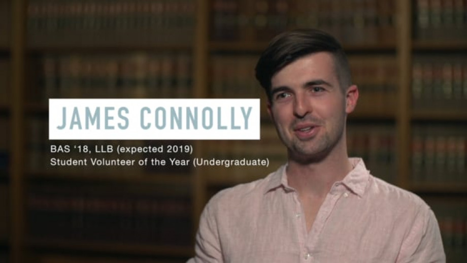 James Connolly - 2019 Student Volunteer of the Year (Undergraduate)