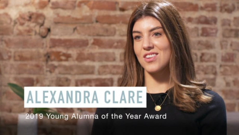 Alexandra Clare - 2019 Young Alumna of the Year
