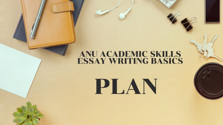 Essay writing - Plan