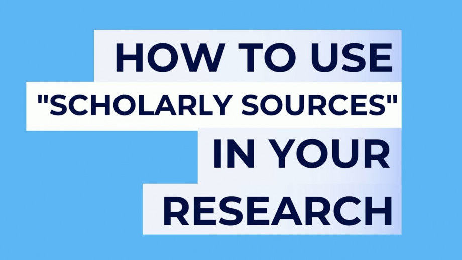 ANU Library: How to use scholarly sources in your research
