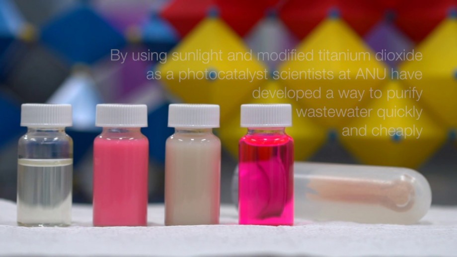 ANU scientists develop new technique to purify wastewater with sunlight