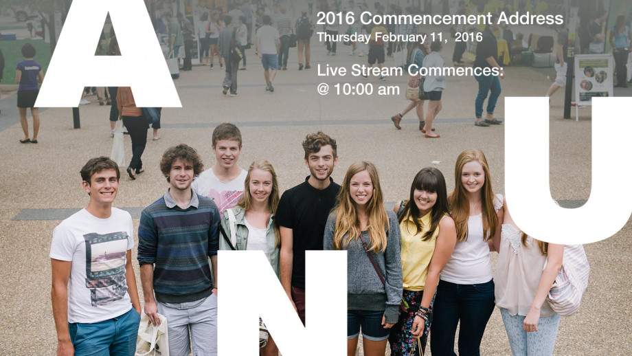2016 Commencement Address LIVE STREAM