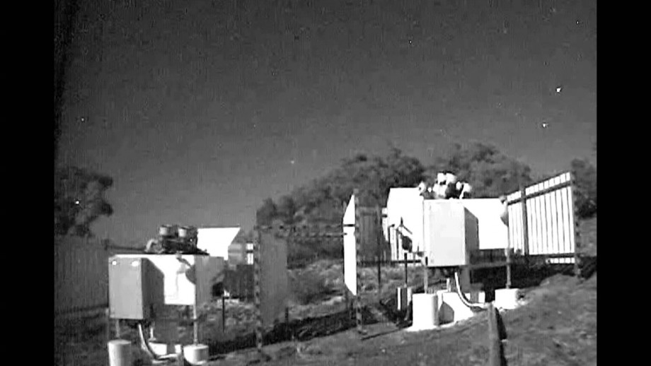Time lapse of HAT-South telescope in action