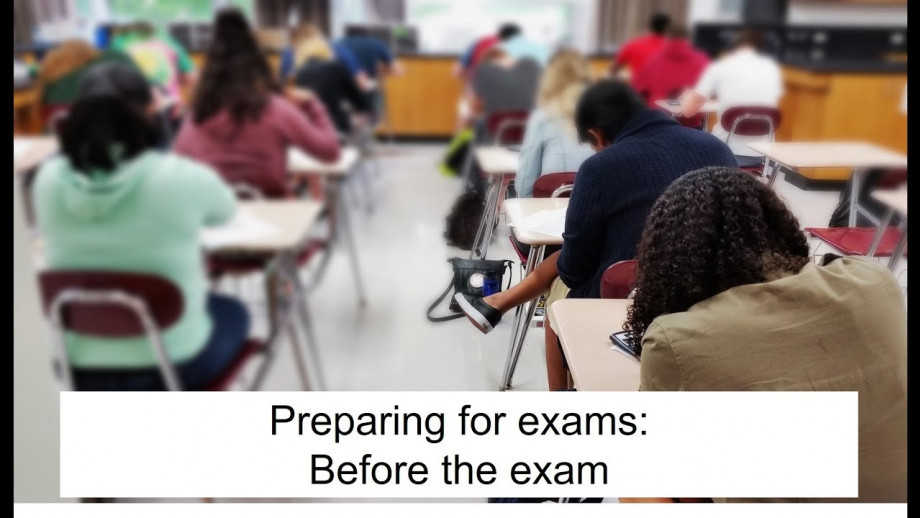 Preparing for exams: before the exam