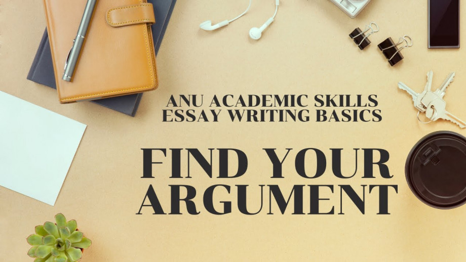 Essay writing - Find your argument