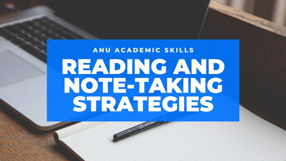 Reading and Note-taking Strategies