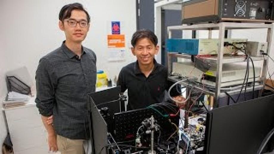 Barcode scanning microscope films neurons firing