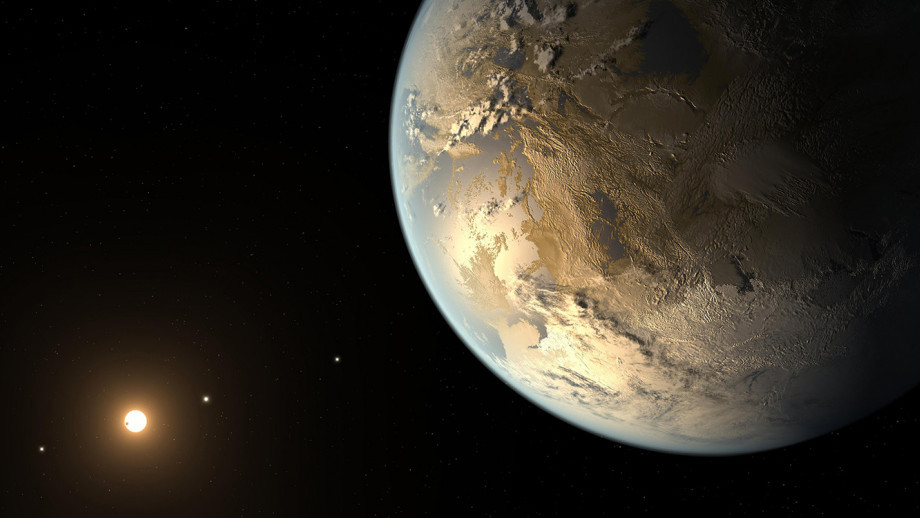 This artist's concept depicts Kepler-186f, the first validated Earth-size planet to orbit a distant star in the so-called habitable zone. Credit: NASA/Ames/SETI Institute/JPL-Caltech