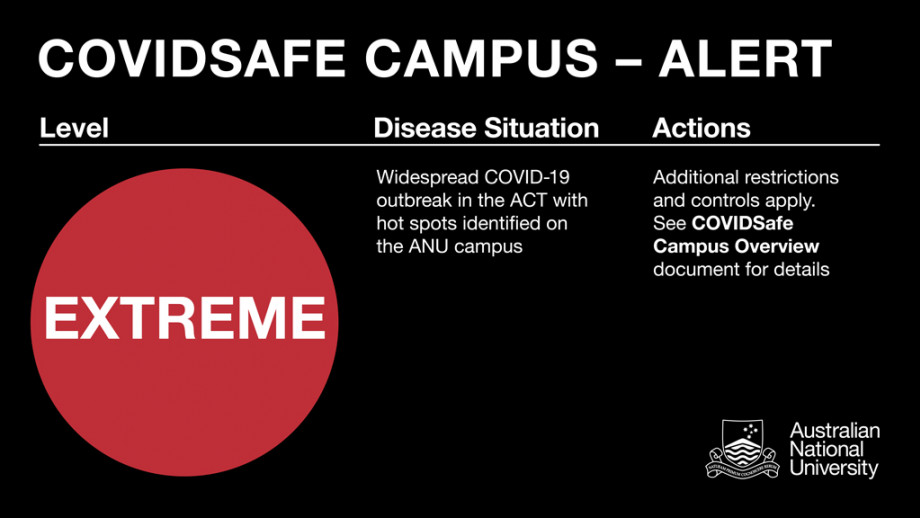 COVID Safe Campus Alert - EXTREME