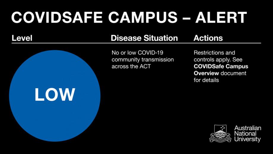 COVID-safe campus alert - LOW