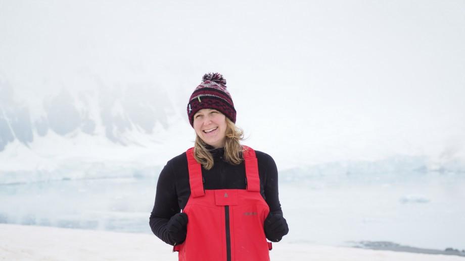 Nina Earl in Antarctica
