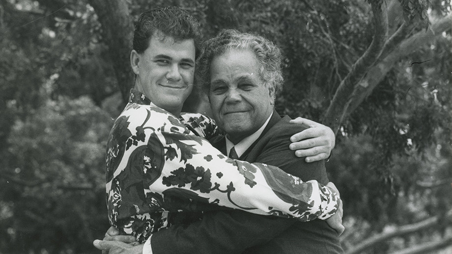 Brenda's father Joseph Croft (1926–1996) and younger brother, Lindsay Croft (1967–1994)