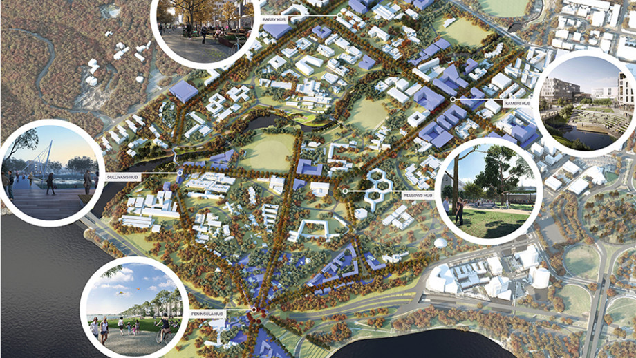 The new Master plan will feature hubs and promenades.