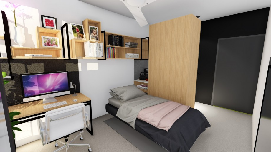 Artist's impression of new residence - bedroom