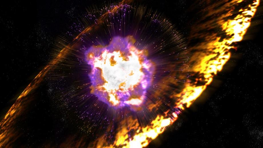 Artist's impression of a supernova. Image Greg Stewart SLAC National Accelerator Lab
