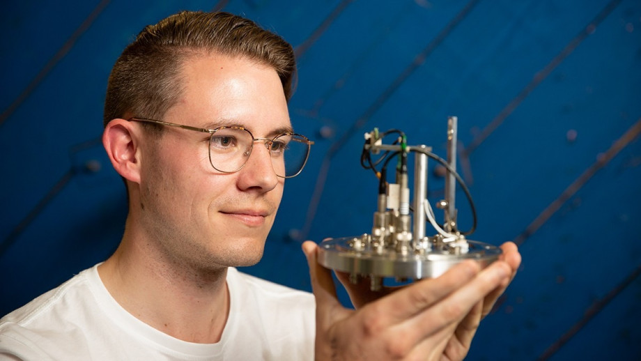Lachlan McKie is studying nuclear physics at ANU. Photo: Martin Conway