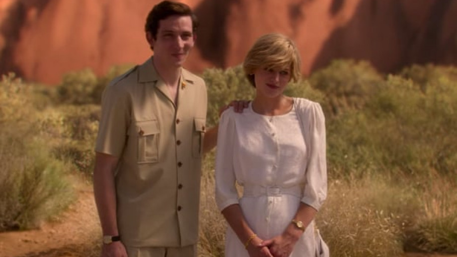 Charles and Diana in front of Uluru