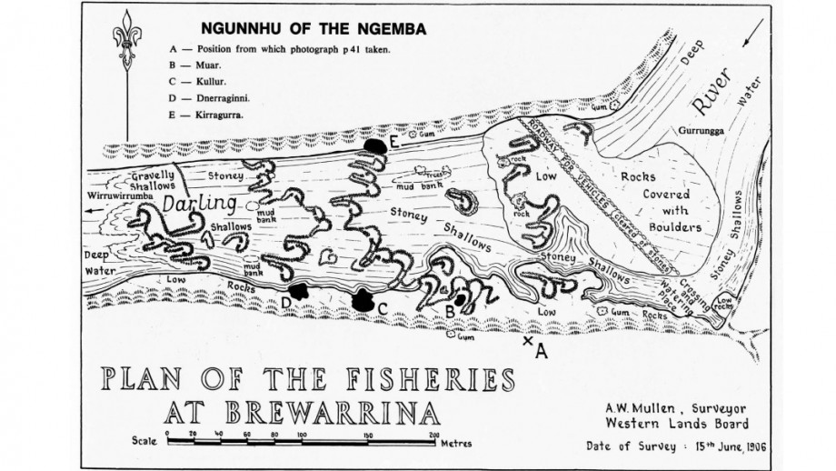 Plan of the fisheries at Brewarrina