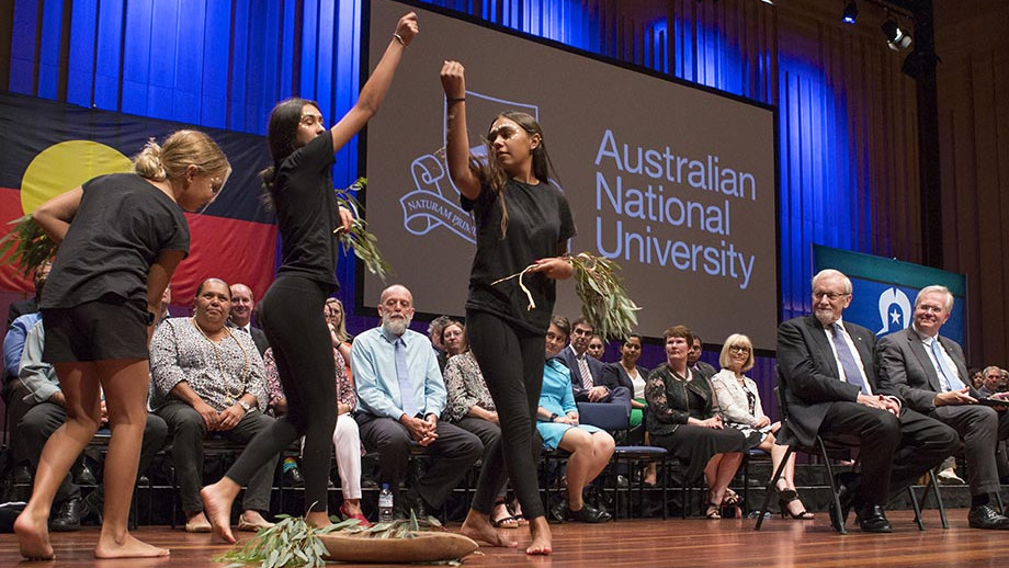 Dancers at the State of the University address. Photo by Lannon Harley.