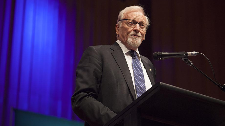 Chancellor Professor the Hon Gareth Evans AC QC. Photo by Lannon Harley.