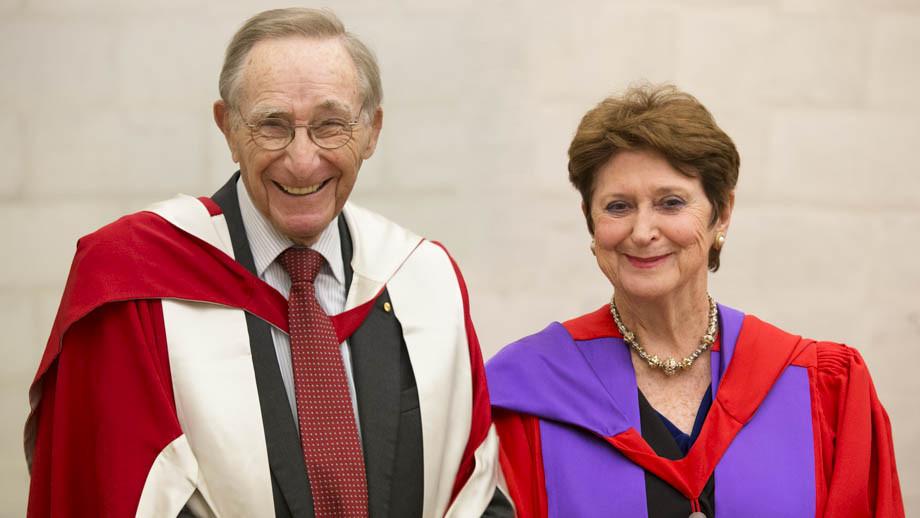 The Hon Emeritus Professor Peter Baume AC and The Hon Susan Ryan AO. Photos by Lannon Harley, ANU.