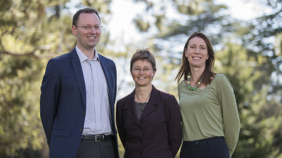 Dr Paul Burke, Professor Kylie Catchpole and Dr Emma Aisbett were part of the successful 2018 Grand Challenges team
