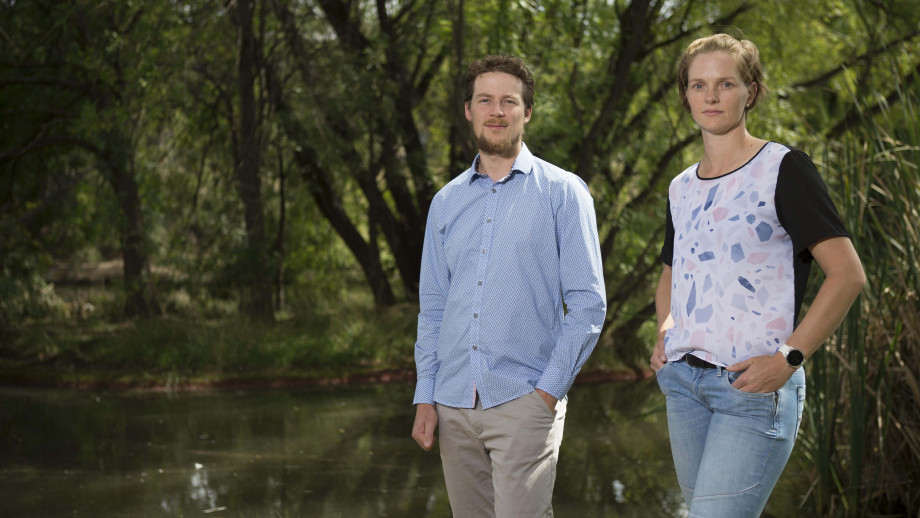 Dr Ben Scheele and Dr Claire Foster from the Fenner School of Environment and Society at ANU. Image credit: ANU