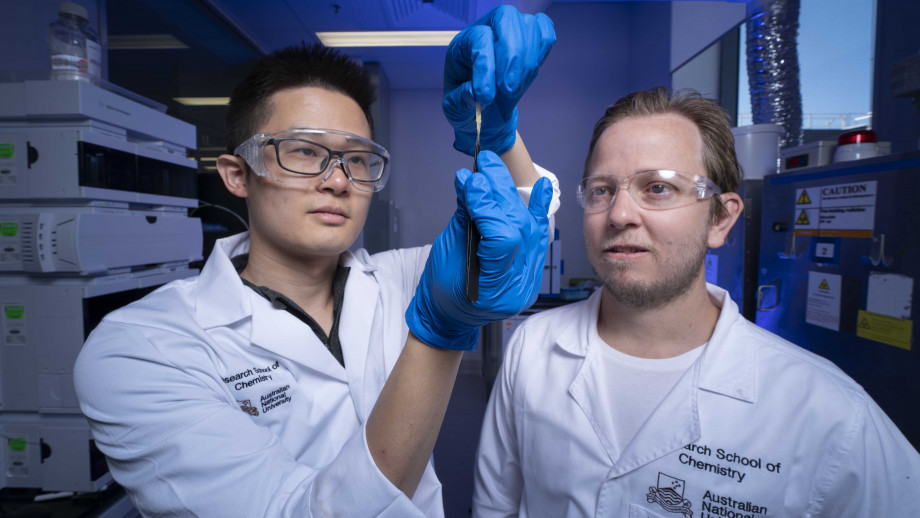Dr Zhen Jiang and Associate Professor Luke Connal. Image credit: ANU