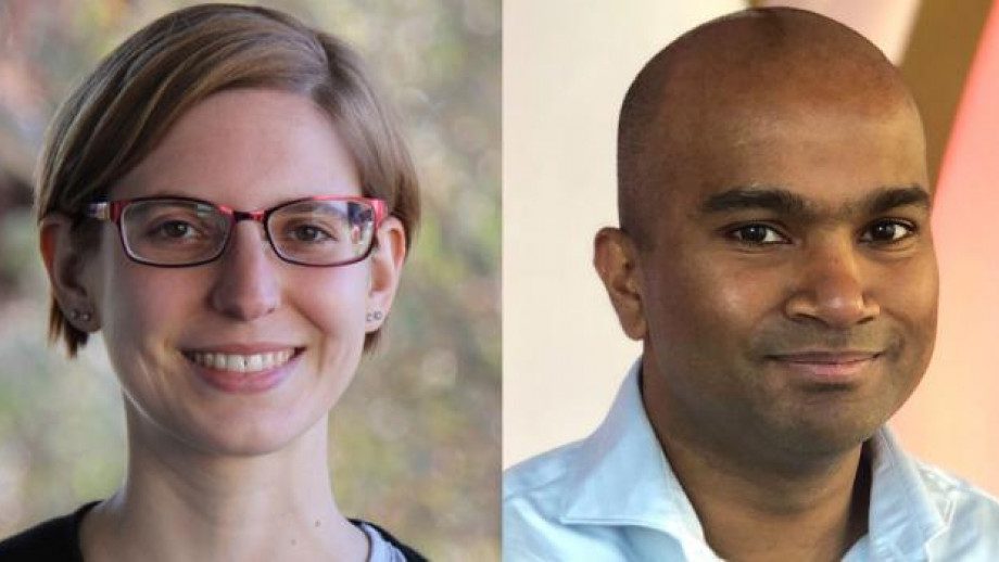 ANU Researcher Dr Lee White, and Lahiru Hapuarachchi, ActewAGL Lead Product and Innovation Engineer.