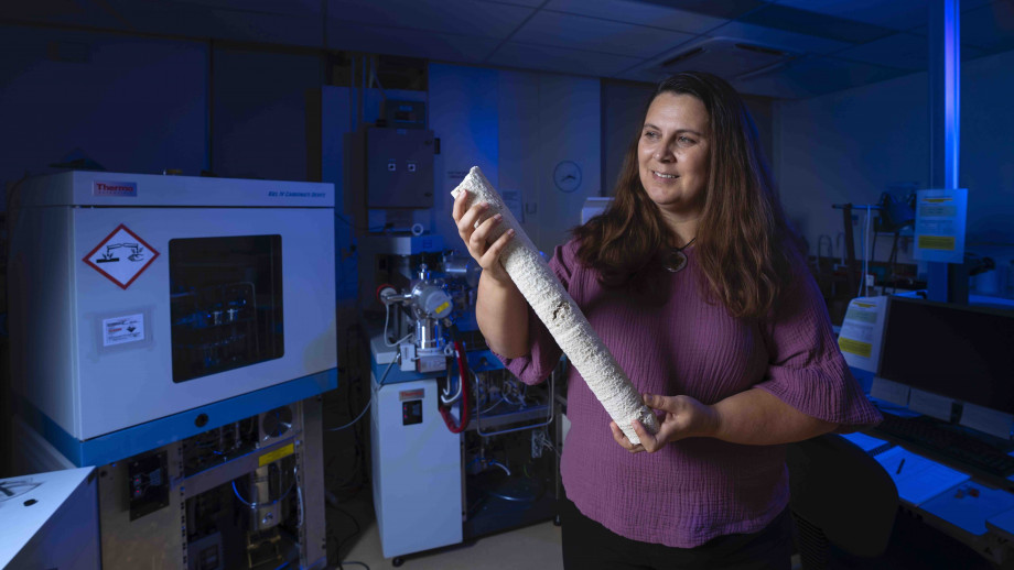 Dr Nerilie Abram is the ANU ambassador for the ABC's 2020 TOP5 Science program. Photo: Lannon Harley