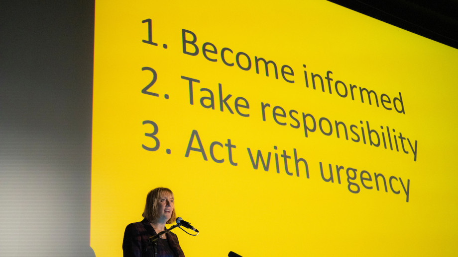 ANU Pro-Chancellor Naomi Flutter gave this year's NRW lecture. Credit: Jamie Kidston, ANU