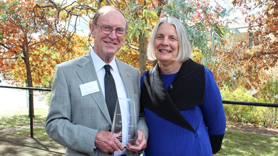 Professor Scott Henderson with Professor Kathy Griffiths. Image: Kate Prestt.