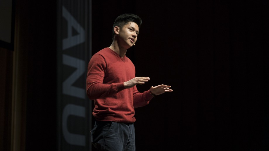 ANU 3MT winner Joshua Chu-Tan. Image: James Walsh.