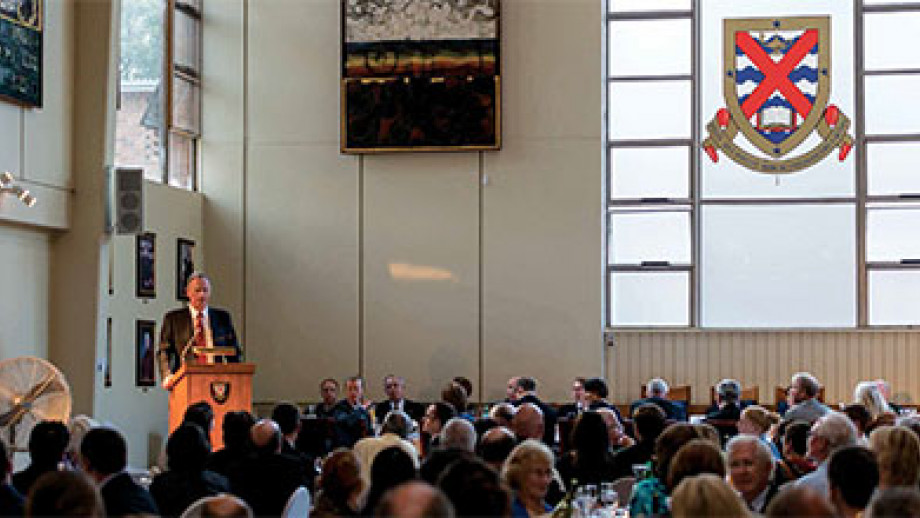 Graham Tuckwell speaking at the Tuckwell Scholarships Launch Dinner