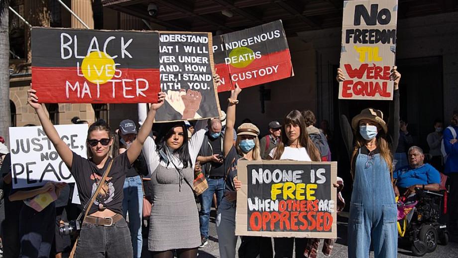 Anti-racism protest, June 2020. Credit: Andrew Mercer