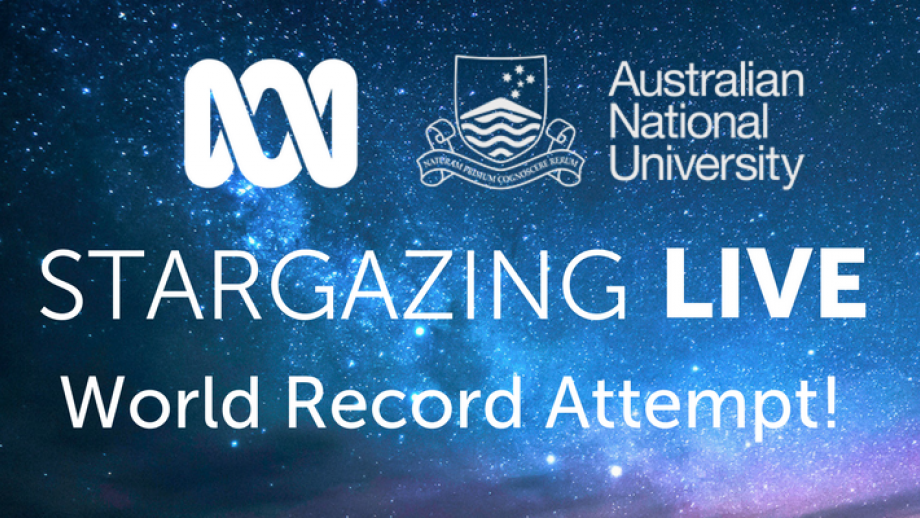 ANU is partnering with the ABC to break its own Guinness World Records stargazing title.
