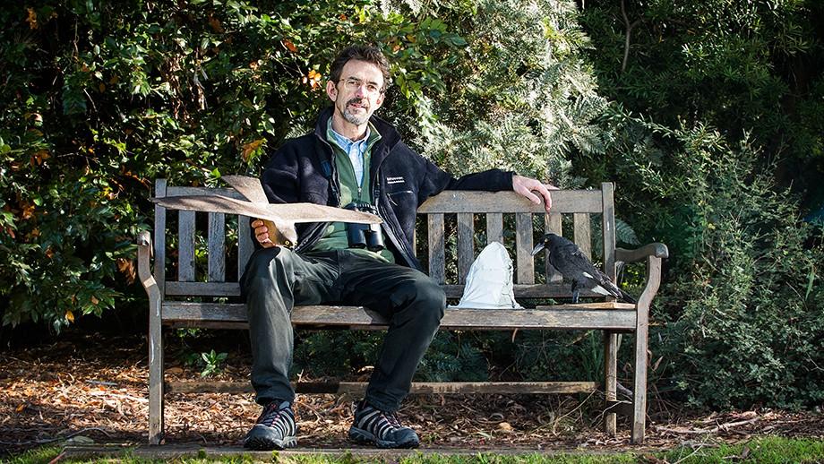 Professor Robert Magrath in the National Botanic Gardens. Image Stuart Hay, ANU