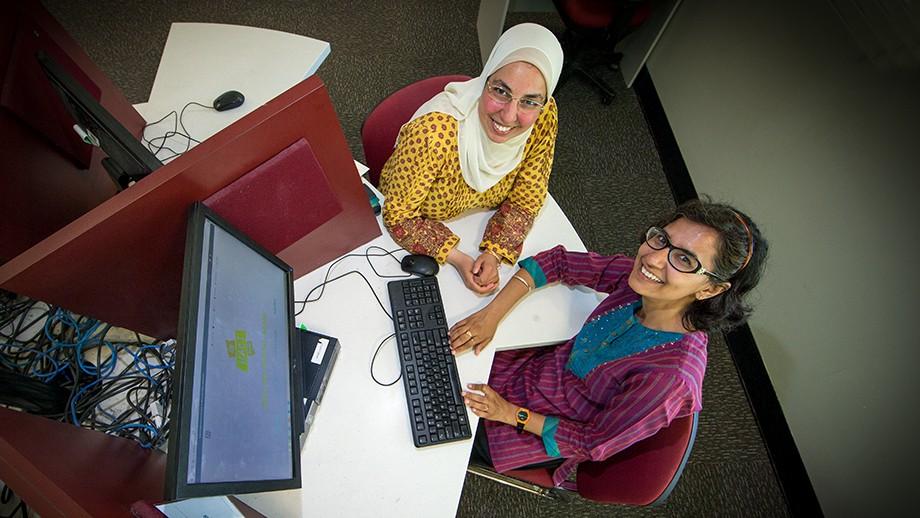 Sara Hamouda and Richa Aswathy. Image: Stuart Hay.