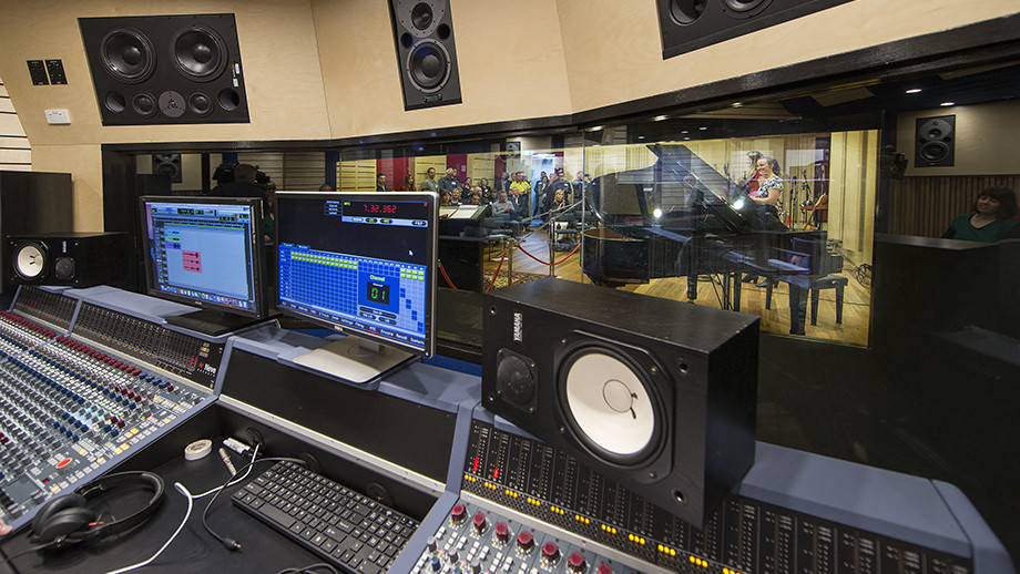 The state-of-the-art ANU music studio openned in 2017. Image: Stuart Hay, ANU.