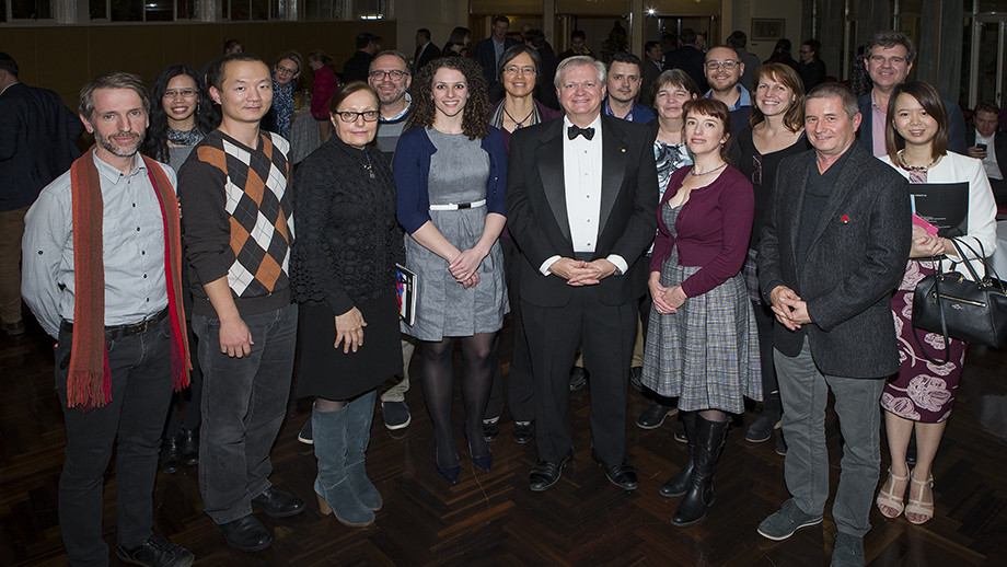 Professor Brian Schmidt and winners of the Vice-Chancellor's Awards for Excellence