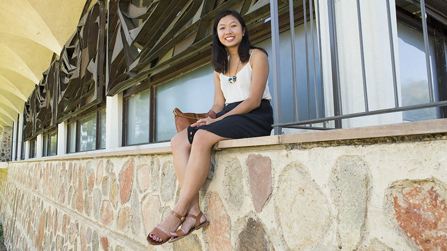 Linda Ma is heading to the University of Hong Kong to continue her research in Development Studies. Photo by Stuart Hay, ANU.