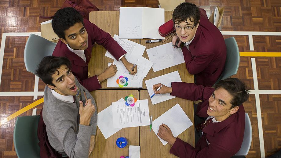 Omar Siddiq, Varun Chaganti, Max Ashurst and Zach Browning from Radford College. Image: Stuart Hay, ANU.