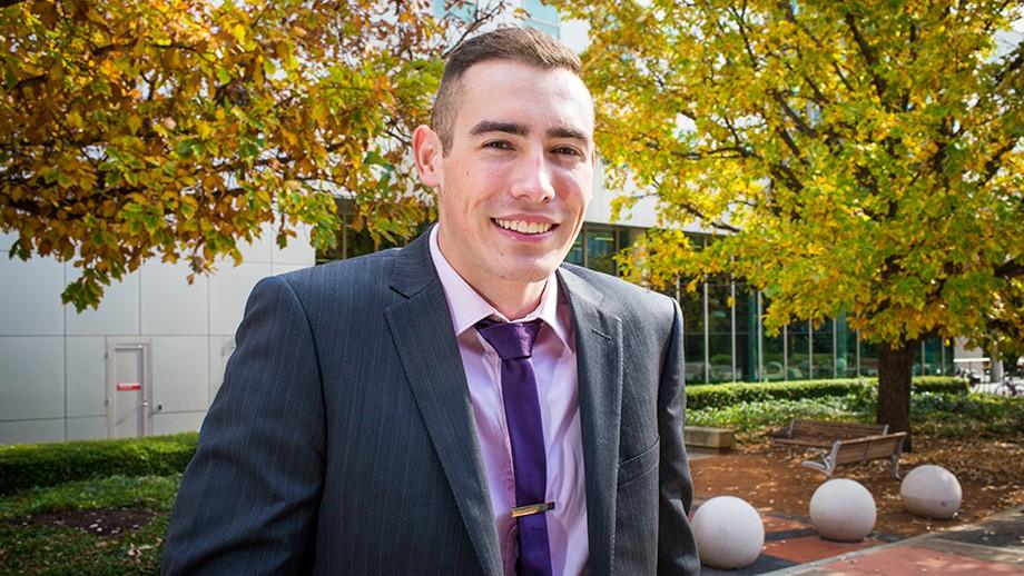 Jordan Kerr. Image Stuart Hay, ANU