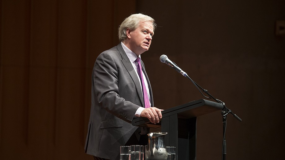 Professor Brian Schmidt outlines his vision for ANU. Photo by Stuart Hay