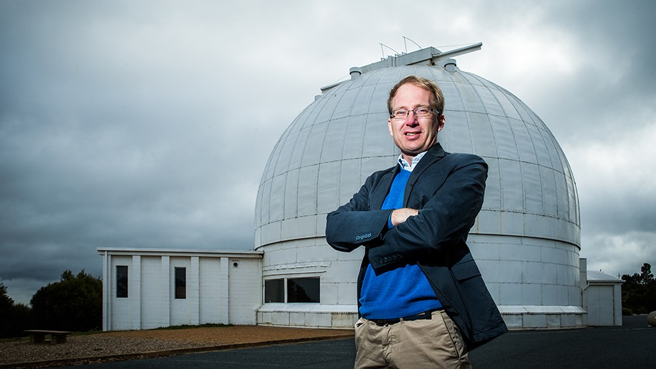 Professor Martin Asplund at the Research School of Astronomy and Astrophysics, Mount Stromlo. Image Stuart Hay, ANU
